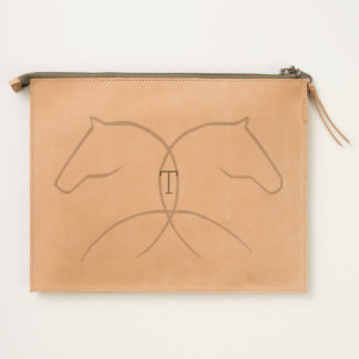 Double Horse Leather Travel Pouch