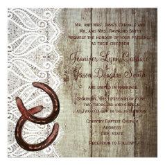 Double Horse Shoe Wedding Invitations