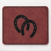 Double Horse-shoes BRANDED MOUSEPAD