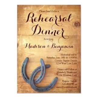 Double Horseshoes Rehearsal Dinner Invitations