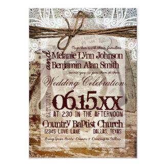 "Double Horseshoes Rustic Wedding Invitations 4.5"" X 6.25"" Invitation Card"