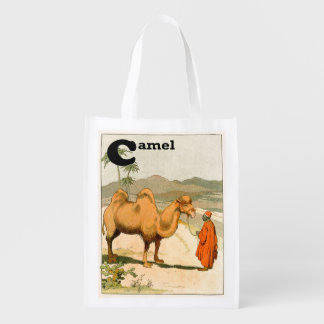 Double-Hump Camel in the Mongolian Desert Grocery Bag
