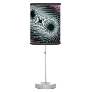 Double Hurricane - green and pink fractal design Table Lamp