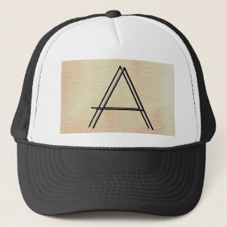 Double Image Monogram - The World With Only Words Trucker Hat