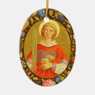 Double Image St. Stephen the ProtoMartyr (PM 08) Ceramic Ornament