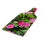 Double Impatiens Glass Paddle Cutting Board