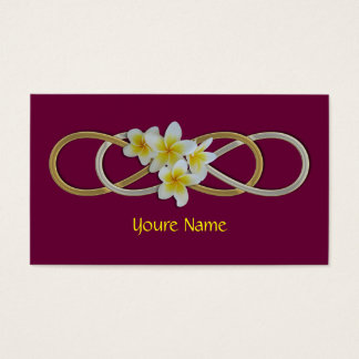 Double Infinity BiColor Frangipani Business Card