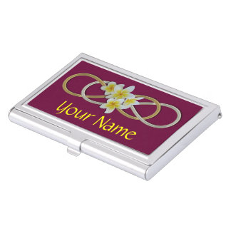 Double Infinity BiColor Frangipani Business Card Holder