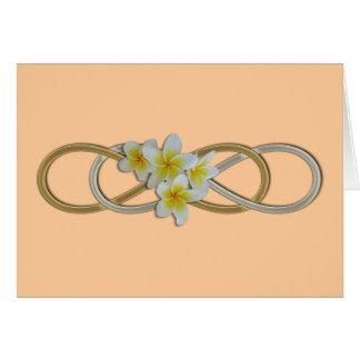 Double Infinity BiColor Frangipani Card