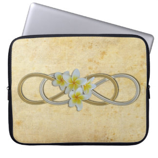 Double Infinity BiColor Frangipani Laptop Computer Sleeve