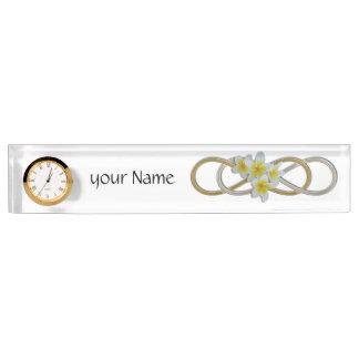 Double Infinity BiColor Frangipani Name Plate
