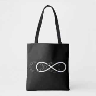 Double Infinity black & white Tote Bag