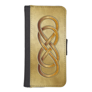 Double Infinity Cloisonne' Amber - Phone Wallet