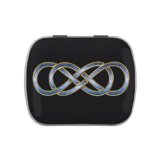 Double Infinity Cloisonne' Blue & Gold-Jelly Belly Jelly Belly Tins