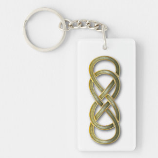 Double Infinity Cloisonne' Jade - Key Chain