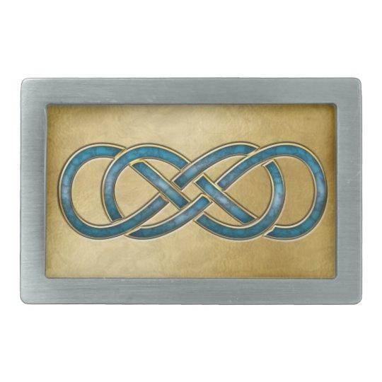 Double Infinity Cloisonne' Marbled Aqua - Buckle Belt Buckle