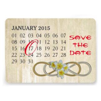 Double Infinity - Frangipani - Custom Calendar Card