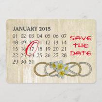 Double Infinity - Frangipani - Custom Calendar Save The Date