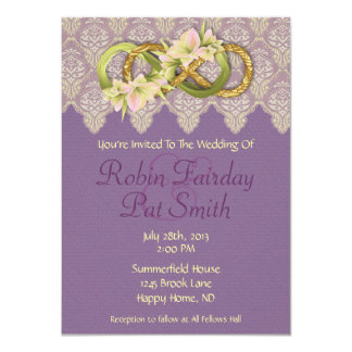 Double Infinity-Gold & Cowlilies- Wedding Invite 3