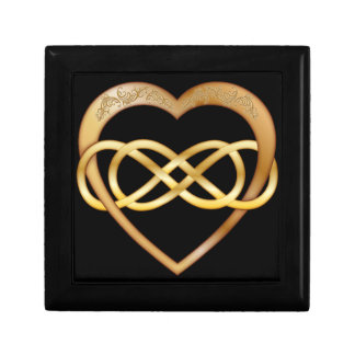 Double Infinity Gold Heart 1 - Gift Box