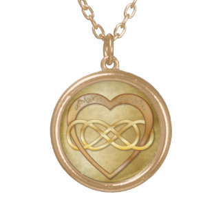 Double Infinity Gold Heart 1 - Necklace