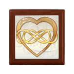 Double Infinity Gold Heart 2 - Gift Box