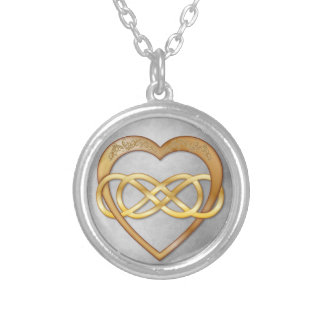 Double Infinity Gold Heart 3 - Necklace