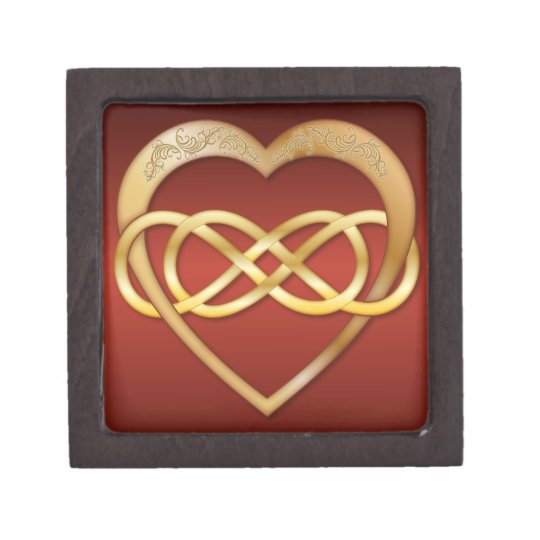 Double Infinity Gold Heart 4 - Gift Box