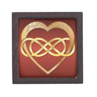 Double Infinity Gold Heart 4 - Gift Box Premium Trinket Box