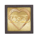 Double Infinity Gold Heart 5 - Gift Box
