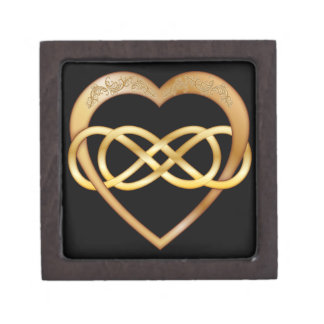 Double Infinity Gold Heart 6 - Gift Box