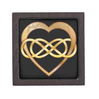 Double Infinity Gold Heart 6 - Gift Box Premium Keepsake Box