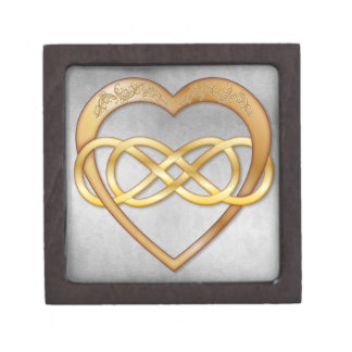 Double Infinity Gold Heart 7 - Gift Box