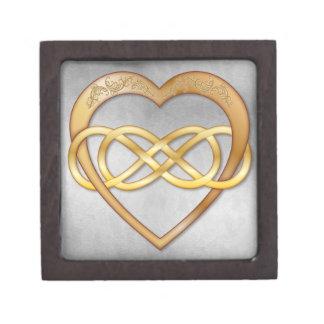 Double Infinity Gold Heart 7 - Gift Box Premium Gift Box
