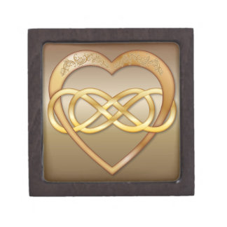 Double Infinity Gold Heart 8 - Gift Box