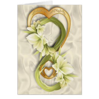 Double Infinity-Gold Heart & Cowlilies 2 Card