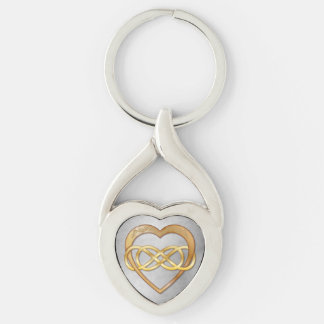 Double Infinity & Gold Heart - Key Chain