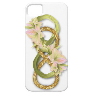 Double Infinity Gold & Pink Cowlily - iPhone 1 iPhone SE/5/5s Case