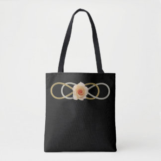 Double Infinity gold silver ROSE Tote Bag