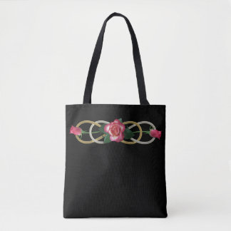 Double Infinity gold silver ROSES Tote Bag