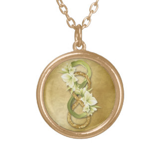 Double Infinity in Gold & Cowlilies - Necklace 1