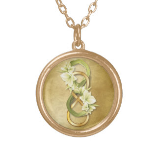 Double Infinity in Gold & Cowlilies - Necklace 2