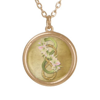 Double Infinity in Gold & Cowlilies - Necklace 3