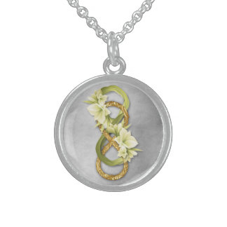 Double Infinity in Silver & Cowlilies - Necklace 1