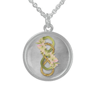 Double Infinity in Silver & Cowlilies - Necklace 3