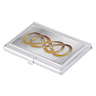 Double Infinity Marbled Amber 2 - Bus. Card Holder Business Card Case