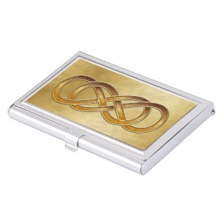 Double Infinity Marbled Amber - Bus. Card Holder Business Card Holders