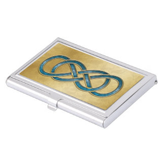 Double Infinity Marbled Aqua - Bus. Card Holder Business Card Case