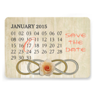 Double Infinity - Rose - Custom Calendar Card