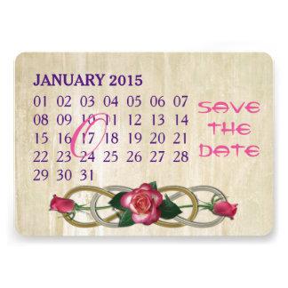 Double Infinity - Roses - Custom Calendar Card